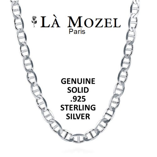 """.925 Sterling Silver Marina Chain: Choose Your Size 16""""-28"""" - Limited Signature Collection"""