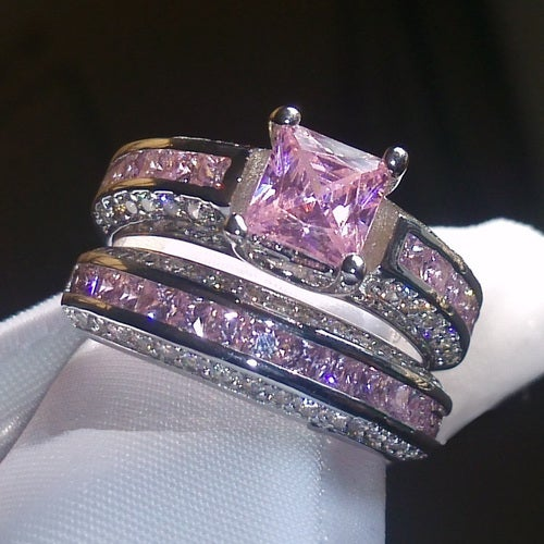 Brilliant Pink/White CZ Stunner Set