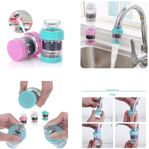 Home Kitchen Water Filter Faucet Ceramic Cartridge Tap Faucet Water Fiter Household Kitchen Water Purifier