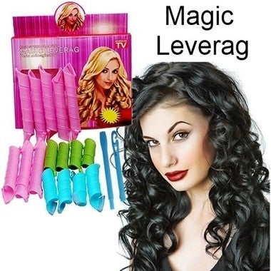 DIY Plastic Hair Rollers 18pcs Rollers 2pcs Hooks DIY MAGIC LEVERAG Magic Hair C