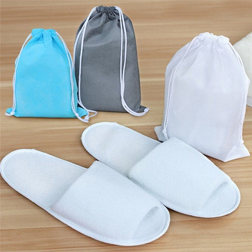 Home Hotel Breathable Anti-Slip Slippers SPA Cotton With Storage Bag CN SZ 35-43
