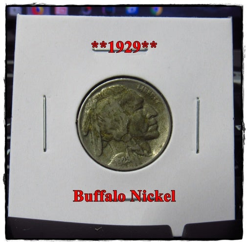 ★★1929★★ 89 Years Old ★★ Buffalo Nickel  - Rare and Authentic - Full Date