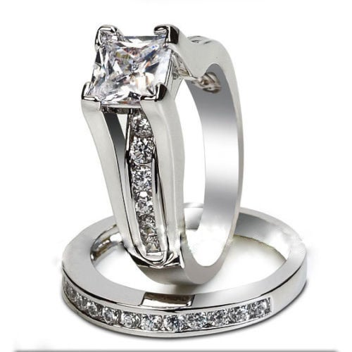 Luxurious Silver CZ Ring For Women