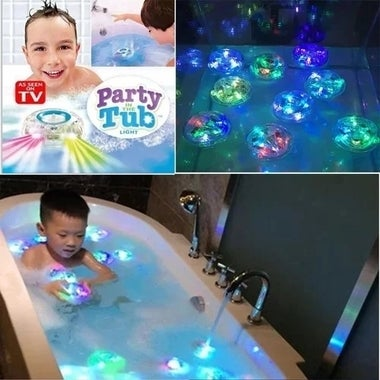 7 LED Color Changing Bathroom LED light for Children Waterproof Toy Party in the