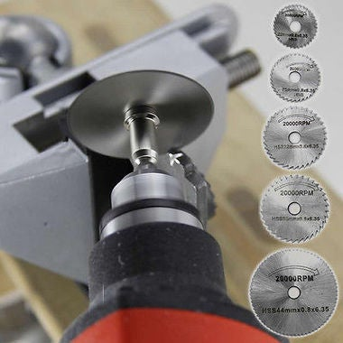 7Pcs HSS Rotary Tool Woodworking Circular Saw Blades Kit Set Dremel 1/8