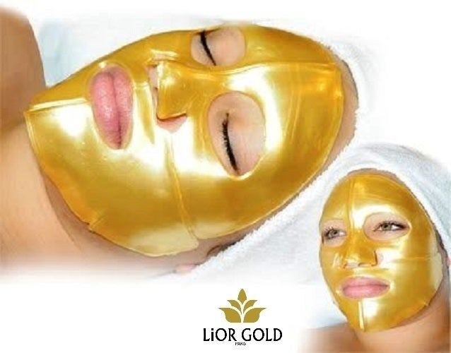2 pieces Lior Gold 24K Golden Facial Mask