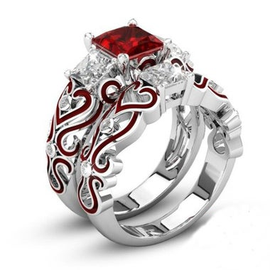 Pretty 2PCs AAA Zicon Wedding Ring set For Women