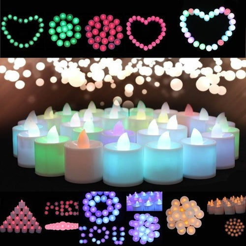 Attractive Mini Colorful Romantic Electronic Candle LED Light For Party Decoration