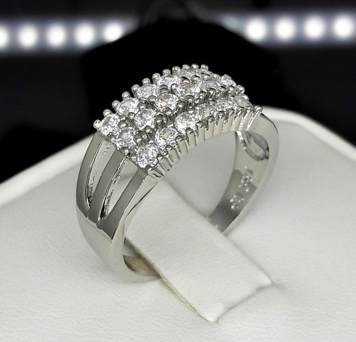 Brilliant Full Cz Front face ring