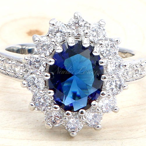 Exquisite Sapphire Sterling Silver 925 Ring