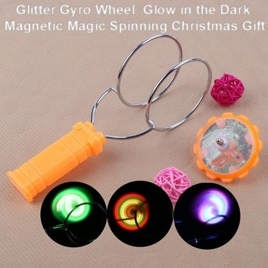 Glitter Gyro Wheel Children Toys Glow in the Dark Magnetic Magic Spinning Top Gl