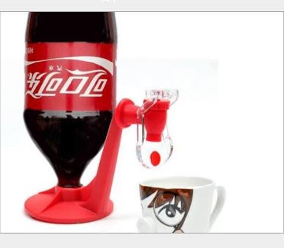 Creative home life daily necessities cola drinking fountain Coke bottle inverted drinking fountains drinking device