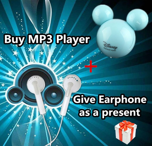 Mickey MP3 Music Player Will Give Earphone As a Present !!