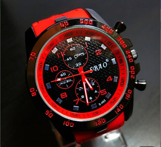 2018 high quality candy color men's quartz watch Double treasure student sports watch