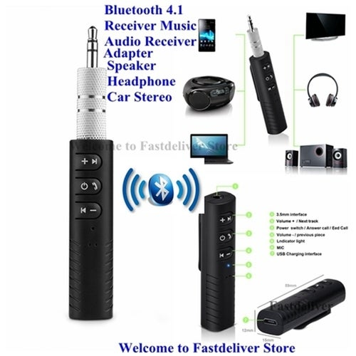 Universale 3.5mm Car Kit Bluetooth 4.1 Receiver Music Audio Receiver Adapter Auto AUX Streaming A2DP Kit for Speaker Headphone Car Stereo
