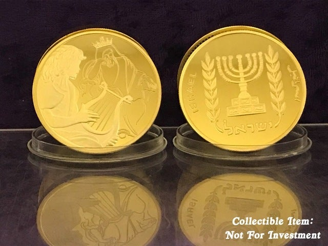 David Playing For Saul *Biblical Art Series Coin* .999 Gold Clad