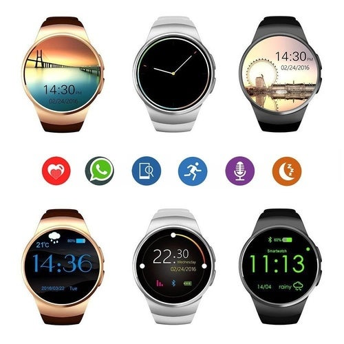 KW18 Smart Watch MTK2502C Bluetooth 4.0 Support Sim Card Heart Rate Monitor Mic Many Colors