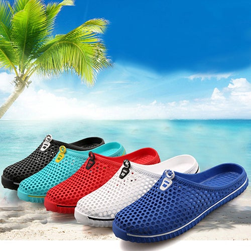 Unisex Fashion Summer Beach Mesh Hollow Slippers Travel Outdoor Leisure Shoes
