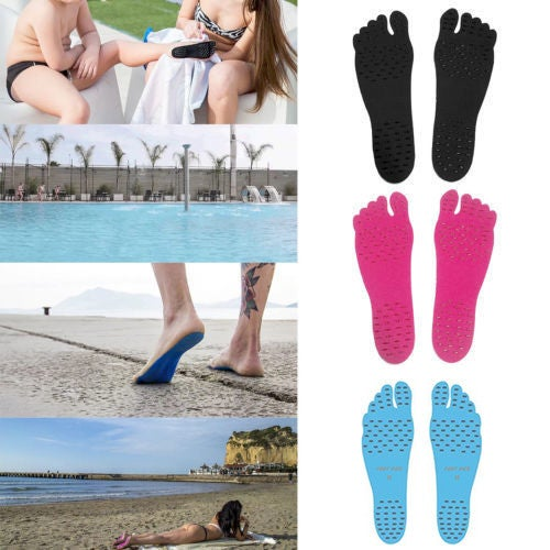 New Barefoot Beach Invisible Shoes Beach Insole Portable Foot Stickers Antiskid