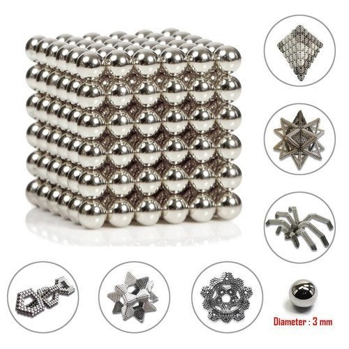 Magnetic Balls,Buck Balls,3mm Magic Decompression Tool for Intelligence Development and Stress Relief