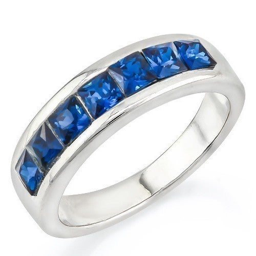 14k White Gold Filled, Beautifully Created Fine Sapphire Ring sm8976
