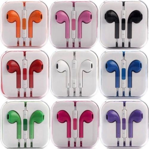 New Colour In-Ear Headphones Earphone Earbud Headset Handsfree With Mic iPhone 6S 6+ 5S 4 iPad iPod 3.5MM
