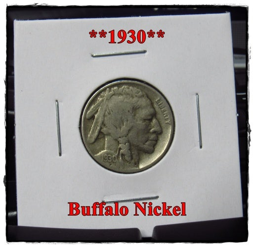 ★★1930★★ 88 Years Old ★★ Buffalo Nickel  - Rare and Authentic - Full Date