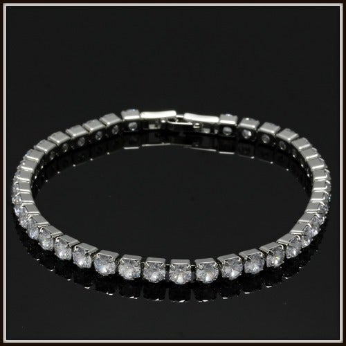 14k White Gold Filled, Beautifully Created Fine White Sapphire Tennis Bracelet sm8167