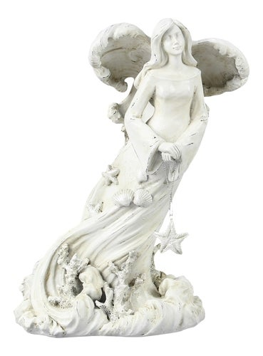Guardian Angel of the Sea Distressed Resin Tabletop Figurine 10 Inch
