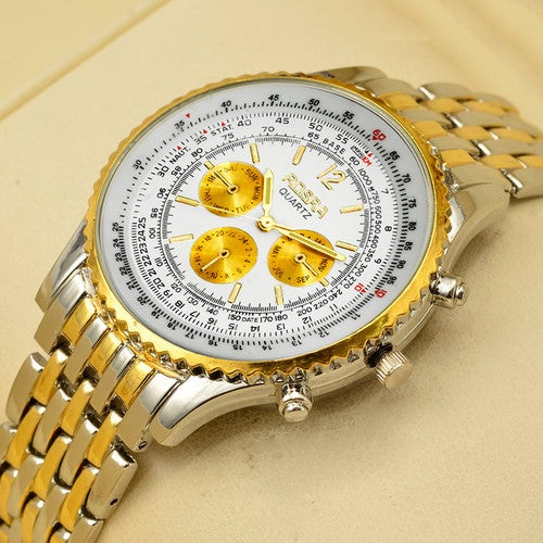 Silver Color Luxury Business ROSRA Wristwatch