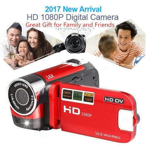 Great Christmas Gift for Your Family and Friends!!! 2017 Newest 16MP DVR TFT 1080P Camcorder Digital Camera 16X Full HD Video 2.7'' DV LCD Zoom