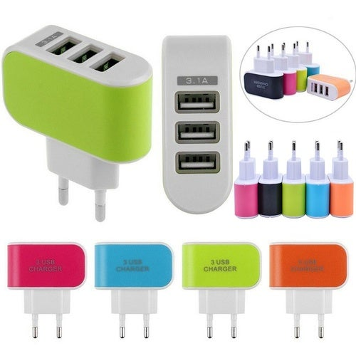 New 3 Port USB Wall Home Travel Charger Adapter Phone EU/US Plug  for IPad IPhone