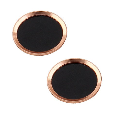 Metal Phone Home Button Sticker Protector 2 PCS Champagne Color for iPhone iPad