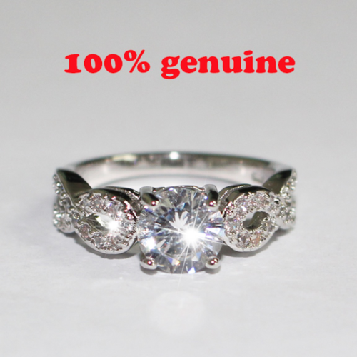 Retro 925 Sterling Silver Hollow AAA Zircon Ring Wedding Ring