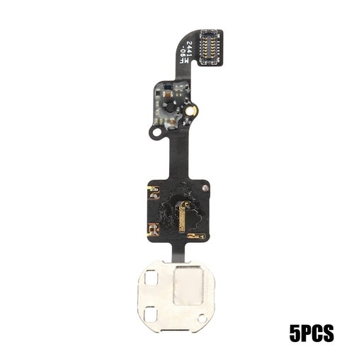5Pcs Power On / Off Home Button Touch ID Sensor Flex Cable Replacements for iPhone 6 Plus(1 Color)