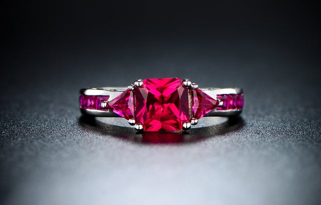 Genuine Pink Ruby Spinal (4 ct. t.w.) Ring