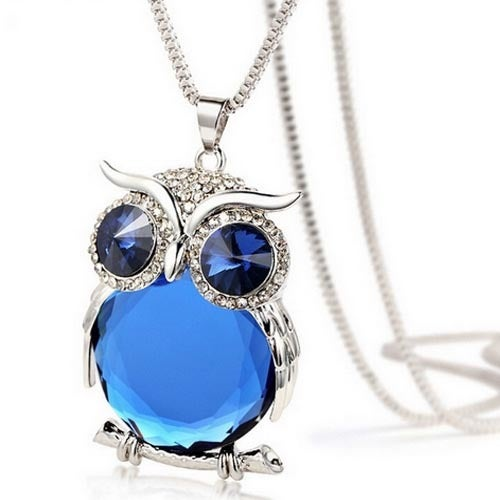 Funny Crystal Owl Necklace