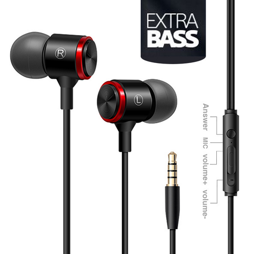 Wired Metal Noise Cancelling Headphones Smart Phone Earphone Music Auriculares Mp3 Player Headset Bass Som With Microphone Hot
