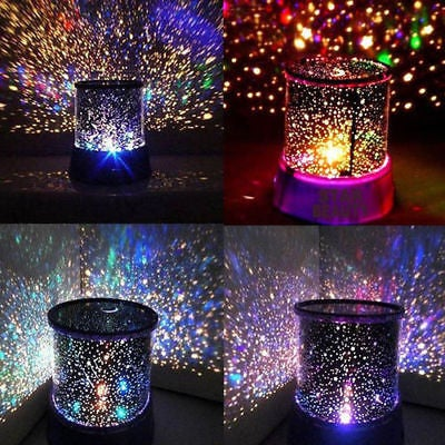 Flashing Colorful Sky Star Master LED Night Light As Seen On TV