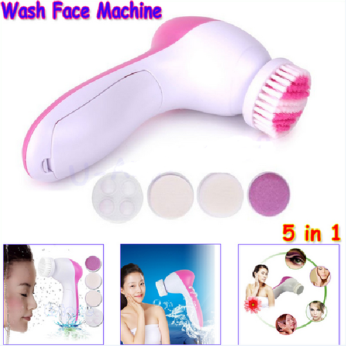 Electronic Cleansing 5 In 1 Body Face Skin Smoothing Cleaning Facial Massager Cleanser