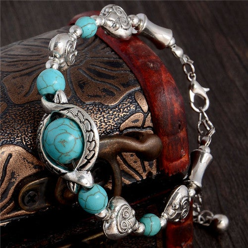 Bogo...  Buy one get one for $6.  Bohemian 24cm Hot Heart Design Polished Stone Bracelet