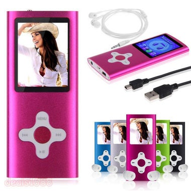 Music Media Player 4TH Generation MP3 MP4 Player LCD Screen Video Support 64GB N