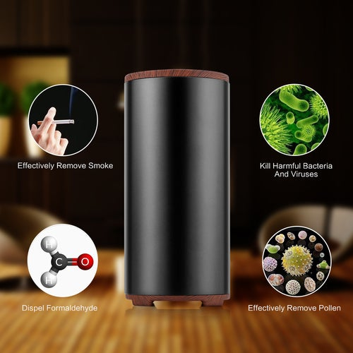 Portable Mini Air Purifier Ozone Air Cleaner PM2.5 Eliminator Remover Fridge Odor Remover Air Fresh Sterilizer USB Charge Deodorizer for Car Home Office