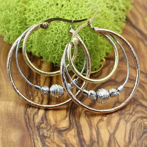 Statement earrings for women. High quality and very nice looking earrings. Medium - large size: 26mm-35mm. New arrival!! Limited quantity available.
