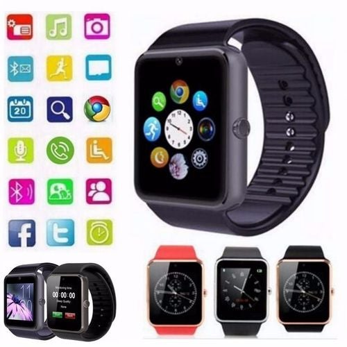 GT08 Bluetooth Smart Watch Phone Wrist watch for Samsung  Haw Wei Xiao Mi  HTC Android iOS iPhone Cell Phone 4 Colors