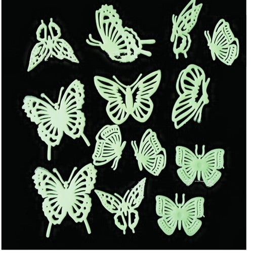 12PCS Fluorescent Butterfly Luminescent wall stickers Home Decor