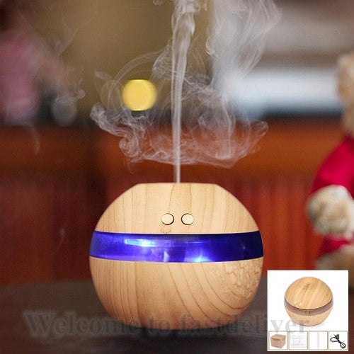 300ml USB Ultrasonic Humidifier Quiet Aroma Fragrance Diffuser Machine Nebulizer Spa with Blue LED Light