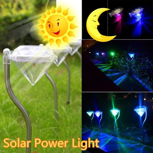 Beauty Your Garden Solar Path Light 4 Color-changing LED Outdoor Light Landscape Lighting Lamp Waterproof
