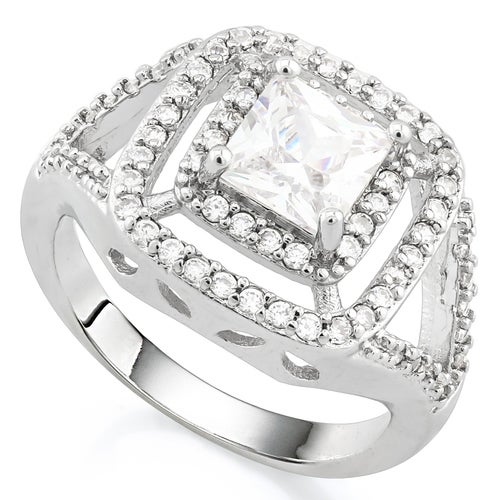 14k White Gold Filled, 1.78ctw Beautifully Created White Sapphire Ring
