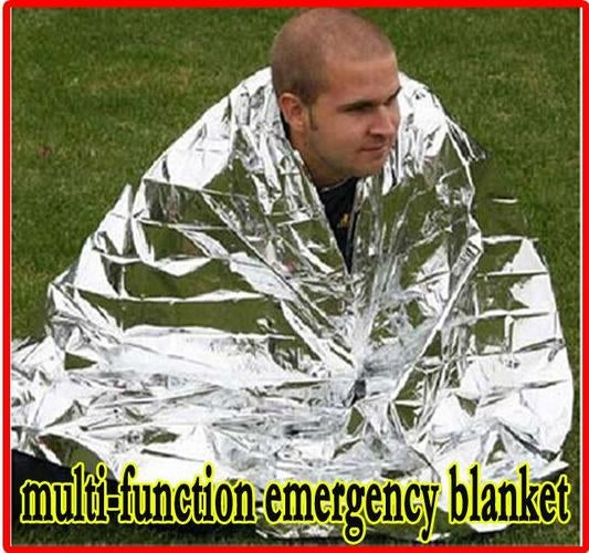 Multi-function Outdoor Camping Waterproof Emergency Survival Insulation Foil Thermal First Aid Rescue Blanket Disaster Response Tool